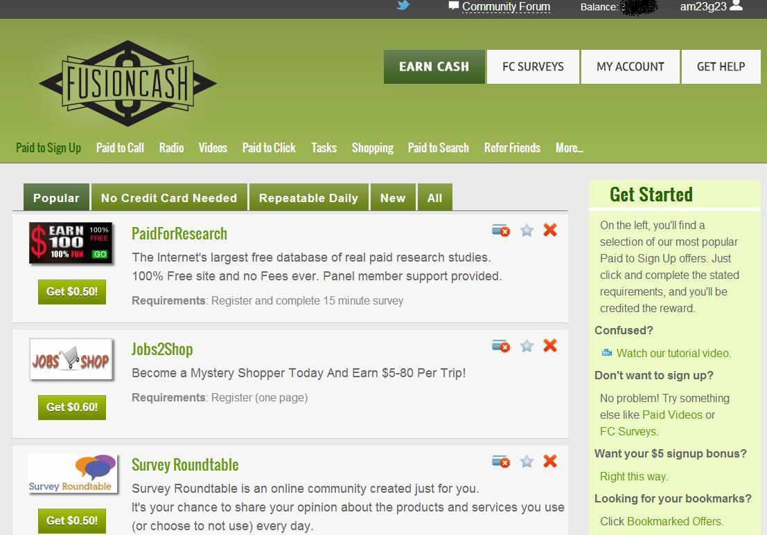 Fusion Cash Reviews 2013-2014